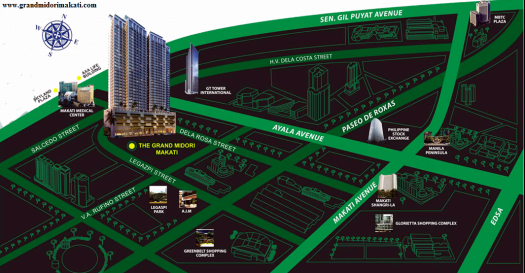 Location Map of The Grand Midori Makati